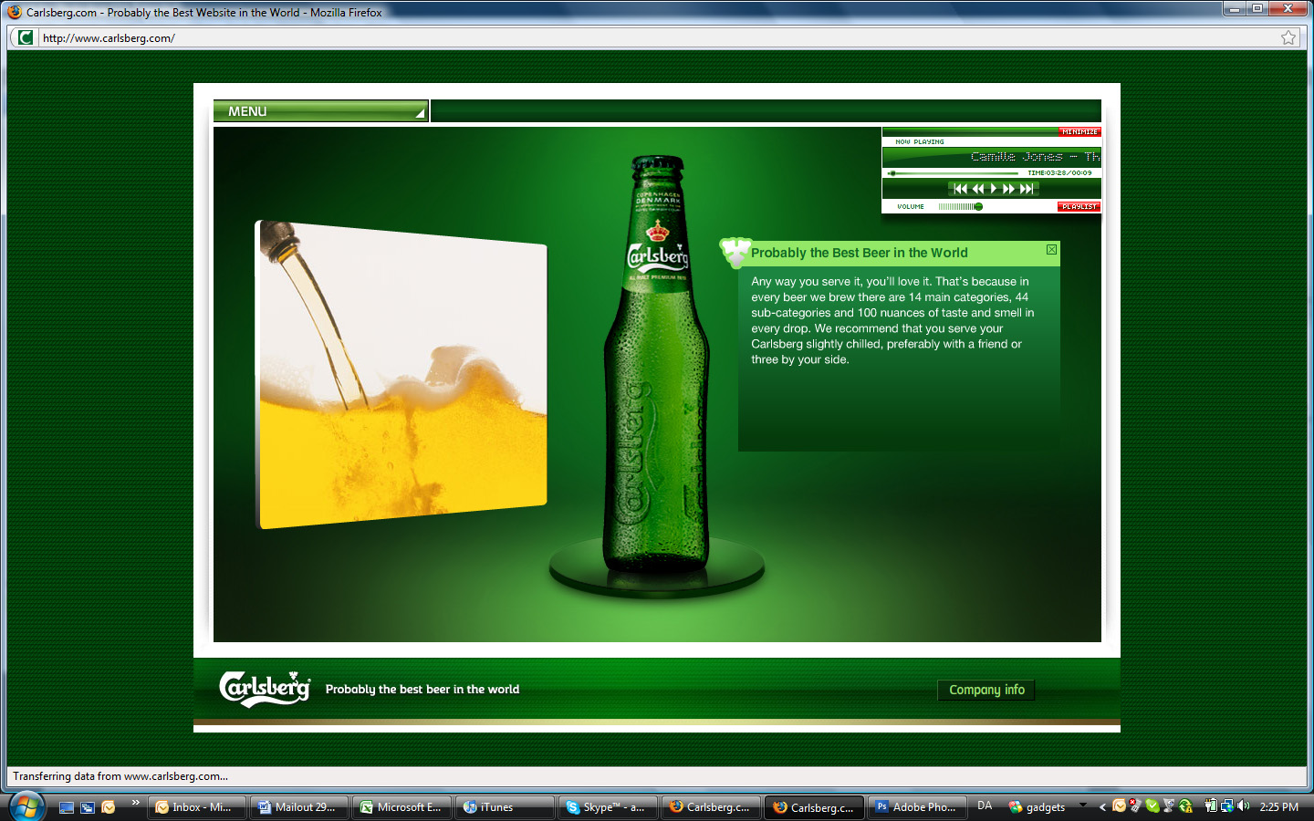 Carlsberg screenshot 2