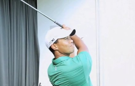 Tiger Woods on TrackMan